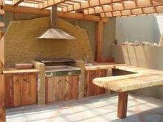 Resultado de imagen para quinchos rusticos Outdoor Entertaining, Outdoor Cooking, Parrilla Exterior, Dream Beach Houses, Cabana, Natural Building, Rooftop Garden, Fire Pit Backyard, Back Patio