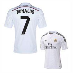 adidas Youth Real Madrid Ronaldo #7 Soccer Jersey (Home 2014/15)