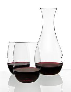 The govino Dishwasher Safe Decanter Set, Includes Two Dishwasher Safe Glasses - Kitchen Appliances Lists Products Fun Wine Glasses, Polymer Resin, Wine Glass Set, Wine Decanter, White Wine, Wines, Barware, Dishwasher, Picnics