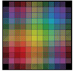 Hue Shift Afghan Ravelry: Project Gallery for Hue Shift Afghan pattern by Kerin Dimeler-Laurence Crochet Cushions, Crochet Motif, Crochet Designs, Knit Crochet, Knitted Afghans, Knitted Blankets, Mitered Square, Knitting Patterns, Tutorials