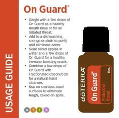 Boost your immunity naturally with doTERRA OnGuard essential oil blend Therapeutic Grade Essential Oils, Doterra Essential Oils, Natural Essential Oils, Essential Oil Diffuser, Essential Oil Blends, On Guard Essential Oil, Natural Oils, Natural Healing, Healing Oils