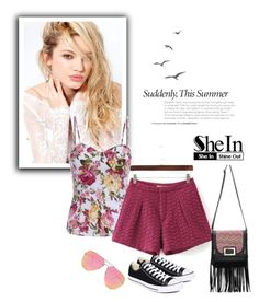 """SheIn 5/II"" by nermina-okanovic ❤ liked on Polyvore featuring Silvana, Converse and Quay"