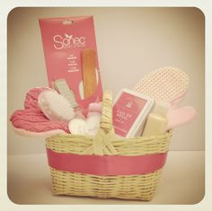 The Pink Basket    This is another one of our Limited Edition baskets with spa products and pink accents!    Basket includes:     - Rose Incense  - Pink Slippers  - Pedicure and Manicure Set  - Exfoliating Shower Glove  - Almond Milk Body Lotion   - Pink Metallic Box    $320