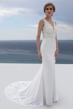 Dropbox - - Simplify your life Crepe Wedding Dress, Wedding Dress Sleeves, Elegant Wedding Dress, Perfect Wedding Dress, Designer Wedding Dresses, Bridal Dresses, Wedding Gowns, Dresses With Sleeves, Vow Renewal Dress