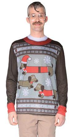 e80a060e7c7 Ugly Weiner Wonderland Adult Men s Costume Christmas Sweater T-Shirt  Halloween