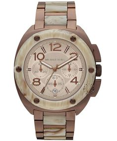 MICHAEL KORS Tribeca Chronograph Stainless Steel  Τιμή: 343€  http://www.oroloi.gr/product_info.php?products_id=32580