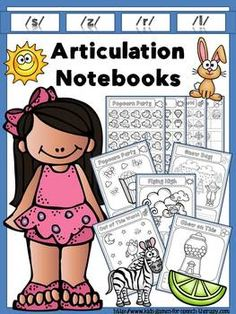 Articulation Notebooks for /s/,/z/, /l/ and /r/