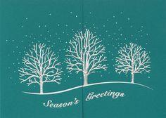 Snowy Silver Trees - The Fancy Envelope