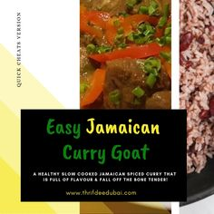 A healthy slow cooked Jamaican Spiced Curry that is full of flavour & fall off the bone tender! Jamaican Curry Goat, Jamaican Cuisine, Jamaican Dishes, Jamaican Recipes, Goat Recipes, Dinner Recipes, Curried Goat Recipe, Healthy Cooking, Healthy Recipes