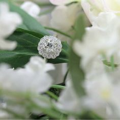 Halo Engagement Ring with Vintage Diamond