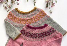 Valentina Sweater og Kjole strikkes ovenfra og ned og strikkes i et stykke rundt på rundpind og strømpepinde eller magic loop og kræver derfor kun en smule mont