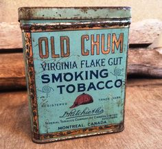 Old Chum Tobacco Tobacciana Antique Pipe Tobacco by PoppiesHouse