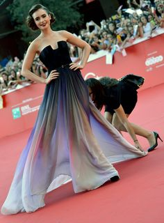 Chapter I: The Things They Carried Lily Collins red carpet dress