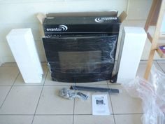 Evantair wall mounted flame effect electric heater model EFP-453 delux heater