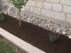 Juans Landscaping - Rock and Mulch Flower Bed Design