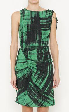 $300. Thakoon Black And Emerald Dress | VAUNTE
