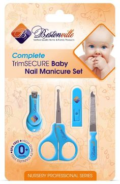 #1 Baby Nail Clippers with Scissors, File and Safety Grooming Tips: Complete Solution for Any Child Age, Newborn or Infant. Deluxe Nursery Care Product & Essential Shower Gift Kit - 5 Years Warranty!