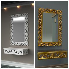 Wooden frame mirror,decorative mirror,mirror Wooden Art, Wooden Frames, Salon Interior Design, Mirror Art, Home Room Design, Glass Design, Decoration, Home Deco, Khalid