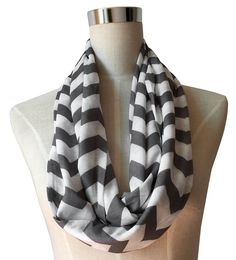 Women's Chevron Patterned Infinity Scarf with Zipper Pocket >>> Don't get left behind, see this great  product : Best Travel accessories for women