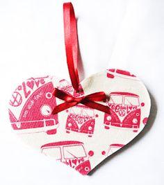 VW campervan wooden heart from http://www.pinkshoesart.com