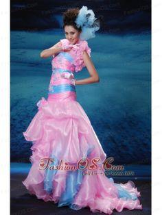 Types Of Prom Dresses, Prom Dresses Under 200, Pink Prom Dresses, Cheap Prom Dresses, Pink Dress, Girls Dresses, Blue Mermaid Dress, Mermaid Gown Prom, Mermaid Dresses