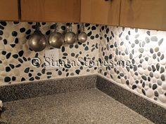 impressive pebble backsplash #1 pebble tile kitchen backsplash