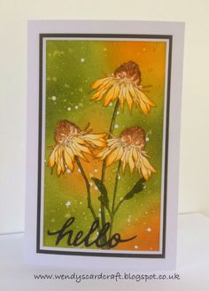 Wendy's Card Craft: Daisies.