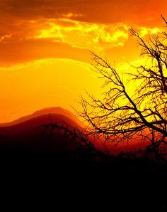 Taos, New Mexico at sunset.