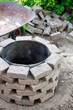 Fire pit...could be done multiple ways...right now thinking of all  kinds of material that would work for this idea...I love it!