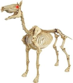 Complete with spooky sound effects for an eerie feeling. Authentic sound effects to heighten the spooky mood. Skeleton pony adds a frightening look to any space. Make a statement this Halloween with this life-size 50 in. | eBay!