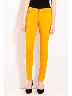 mustard yellow jeans