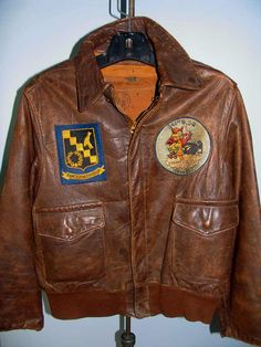 A-2 FLIGHT JACKET - 343rd BOMBARDMENT SQUADRON, 98th BOMBARDMENT GROUP - KOREAN WAR