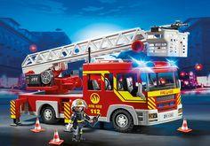 Camion de pompier avec échelle pivotante et sirène - 5362 - PLAYMOBIL® France