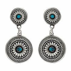 Montana Silversmiths Women's Desert Mesa Flower Drop Earrings