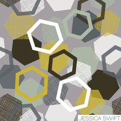 textured hexagons | Jessica Swift