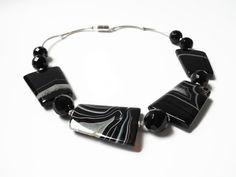 Beadwork Necklace Beaded Jewelry Geometric by FlorenceJewelshop, €90.00