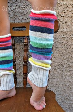 Breathe new life into an old sweater! A handy tutorial to create super cute leg warmers.