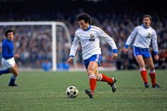 Italy 2 France 1 in 1978 in Mar Del Plata. Christian Dalger has the ball for France in Group A at the World Cup Finals. World Cup Match, World Cup Final, France 1, Fifa World Cup, Christian, Football, Sports, Finals, Soccer