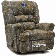 Dallas Cowboys NFL Big Daddy Camo Microfiber Rocker Recliner. Visit SportsFansPlus.com for discount coupon.