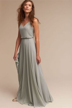 Jenny Yoo Inesse Dress - Gorgeous gray bridesmaid dress – bhldn bridesmaid dress – neutral bridesmaid inspo {bhldn} Source by sinaalicia - Vestidos Flowy, Grey Bridesmaids, Sage Bridesmaid Dresses, Bridesmaid Outfit, Bridesmaid Ideas, Bridesmaid Colours, Beach Wedding Bridesmaids, Designer Dresses, Beautiful Dresses