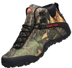 XIANG GUAN Men's Outdoor HighTop Camouflage Water Resistant Trekking Hiking Boots Black 9.5 ** Be sure to check out this awesome product. (This is an affiliate link) #TimberlandBootsforBaby