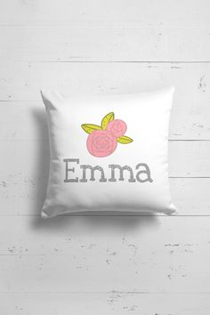 Custom name pillow for baby girl nursery Baby girl nursery pillow with custom name by OttoandPixelsDesign on Etsy