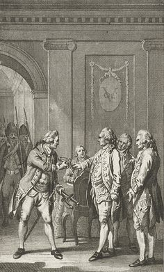 The arrest of three VOC Councilmen in Batavia in 1741. Van Imhoff and two fellow councilmen were arrested for insubordination after going against Valckenier.