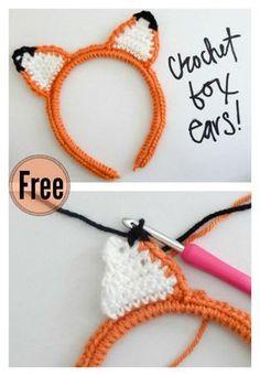 Crochet Fox Ear Headband Free Pattern