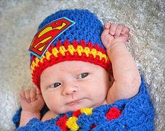 Free Superman Crochet Hat Pattern   ... prop baby newborn child hat superman symbol crochet children's
