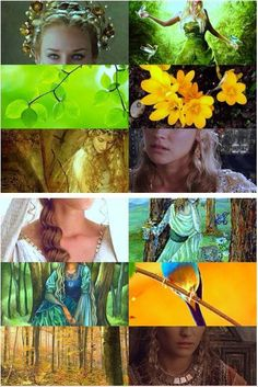 Valar - Vána   The Ever-young. All flowers spring as she passes and open if she glances upon them; and all birds sing at her coming.