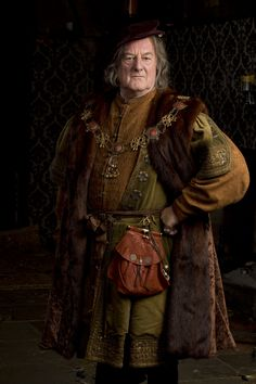 Bernard Hill as the Duke of Norfolk. Wolf Hall, 2015 (costume designer Joanna Eatwell)