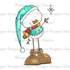 Snowmen Images Christmas Crafts To Make, Christmas Rock, Vintage Christmas, Snowman Images, Christmas Topper, Whimsy Stamps, Christmas Paintings, Winter Theme, Cartoon Drawings