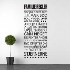 1# Familie regler wallsticker Letter Board, Lettering, Sayings, Quotes, Fest, Mudroom, Home Decor, Mindset, Laundry
