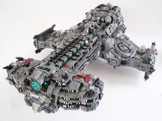 Hyperion Starcraft battleship with Lego